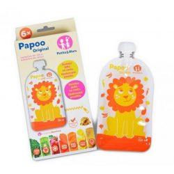 P&M Papoo Original tasak bébiételekhez, oroszlán 6 db