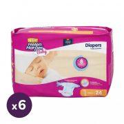 Helen Harper Baby pelenka, Újszülött 1, 2-5 kg, HAVI PELENKACSOMAG 6x24 db