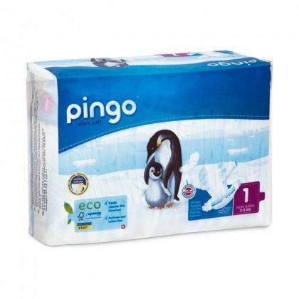 Pingo ökológiai eldobható pelenka Újszülött 1, 2-5 kg, 27 db