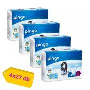 Pingo ökológiai eldobható pelenka, Újszülött 1, 2-5 kg, HAVI PELENKACSOMAG 4x27 db
