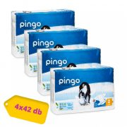 Pingo ökológiai eldobható pelenka, Mini 2, 3-6 kg, HAVI PELENKACSOMAG 4x42 db
