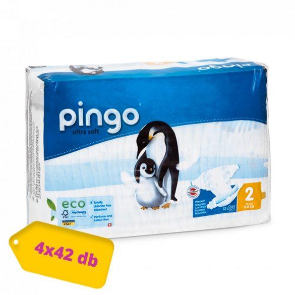 Pingo ökológiai eldobható pelenka Mini 2, 3-6 kg, HAVI PELENKACSOMAG 4x42 db