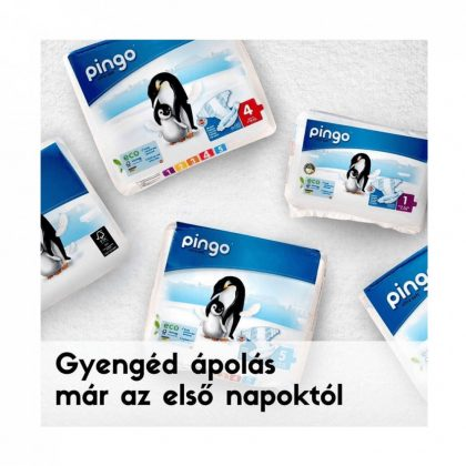 Pingo ökológiai eldobható pelenka, Mini 2, 3-6 kg, 42 db