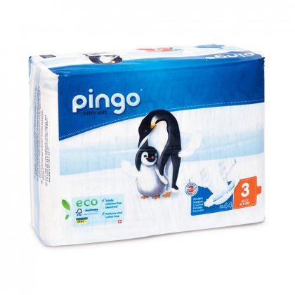 Pingo ökológiai eldobható pelenka, Midi 3, 4-9 kg, 44 db
