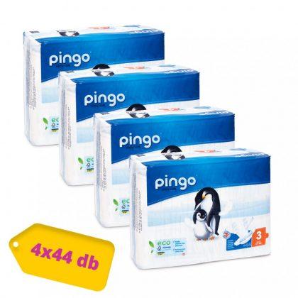 Pingo ökológiai eldobható pelenka, Midi 3, 4-9 kg, HAVI PELENKACSOMAG 4x44 db
