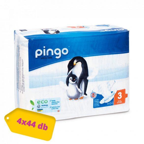 Pingo ökológiai eldobható pelenka Midi 3, 4-9 kg, HAVI PELENKACSOMAG 4x44 db