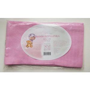 BabyBruin bambusz pelenka rózsaszín 2db