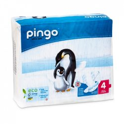 Pingo ökológiai eldobható bio pelenka Maxi 4, 7-18 kg, 40 db