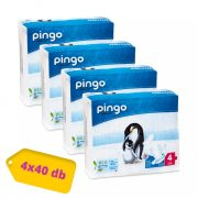 Pingo ökológiai eldobható pelenka, Maxi 4, 7-18 kg, HAVI PELENKACSOMAG 4x40 db