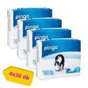 Pingo ökológiai eldobható pelenka, Junior 5, 11-25 kg, HAVI PELENKACSOMAG 4x36 db