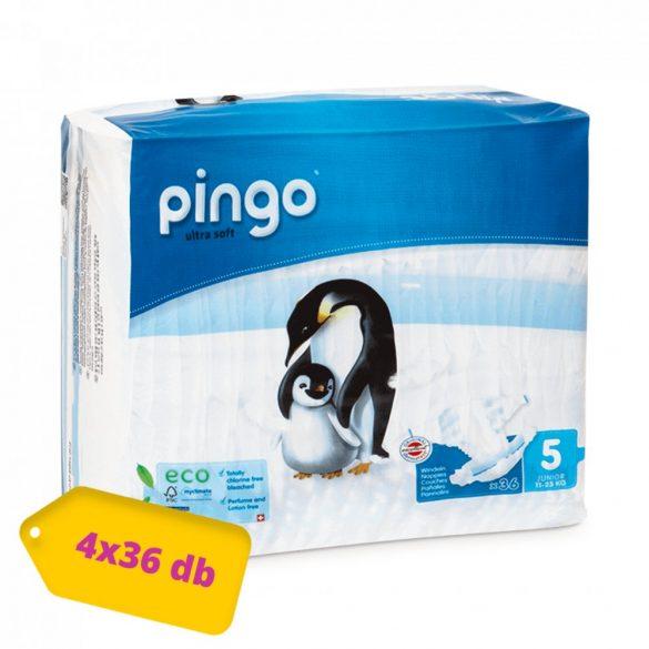 Pingo ökológiai eldobható pelenka Junior 5, 11-25 kg, HAVI PELENKACSOMAG 4x36 db