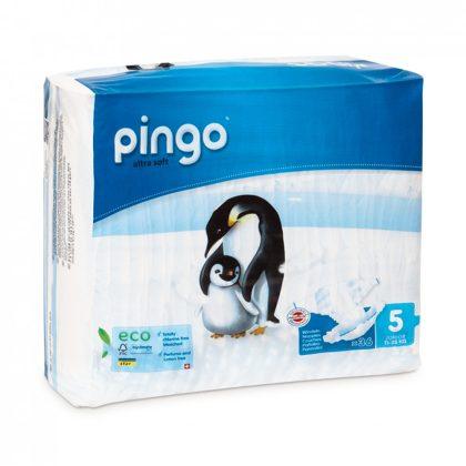 CSOMAGOLÁSSÉRÜLT - Pingo ökológiai eldobható pelenka, Junior 5, 11-25 kg, 36 db