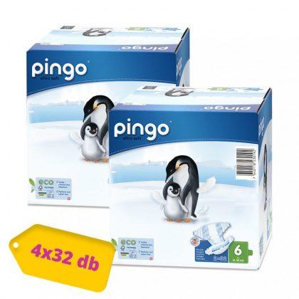 Pingo ökológiai eldobható pelenka Junior+ 6+, 15-30 kg, HAVI PELENKACSOMAG 4x32 db