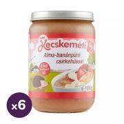 Kecskeméti alma-banánpüré csirkehússal, 5 hó+ (6x190 g)