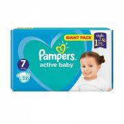 Pampers Active Baby pelenka, XL 7, 15+ kg, 52 db