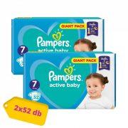 Pampers Active Baby pelenka, XL 7, 15+ kg, HAVI PELENKACSOMAG 2x52 db