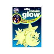 Glowstars foszforeszkáló hold és csillag szett (20 db)