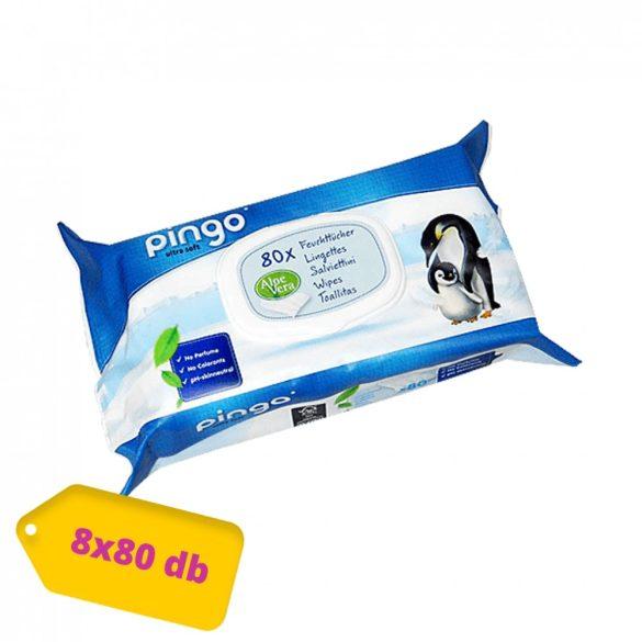 Pingo ökológiailag lebomló nedves törlőkendő csomag (bio) 8x80 db