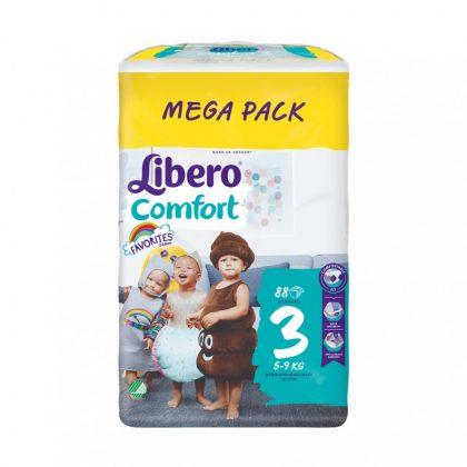 Libero Comfort pelenka megapack, Midi 3, 5-9 kg, 88 db