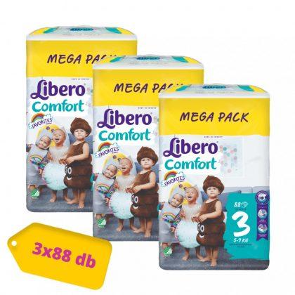 Libero Comfort pelenka, Midi 3, 5-9 kg, MÁSFÉL HAVI PELENKACSOMAG 3x88 db