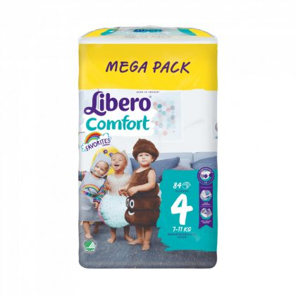 Libero Comfort pelenka megapack, Maxi 4, 7-11 kg, 84 db