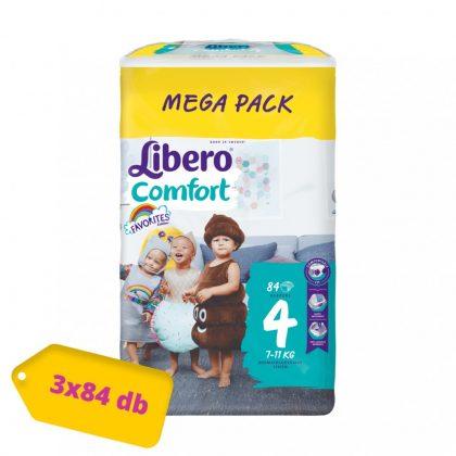 Libero Comfort pelenka, Maxi 4, 7-11 kg, MÁSFÉL HAVI PELENKACSOMAG 3x84 db