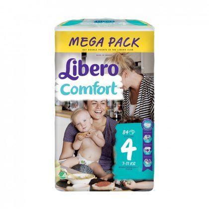 CSOMAGOLÁSSÉRÜLT - Libero Comfort pelenka megapack, Maxi 4, 7-11 kg, 84 db