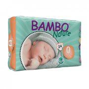 Bambo Nature pelenka, Koraszülött 0, 1-3 kg, 24 db