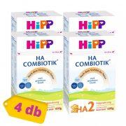 Hipp HA2 Combiotik hidrolizált fehérjét tartalmazó, tejalapú, anyatej-kiegészítő tápszer 6 hó+ (4x600 g)