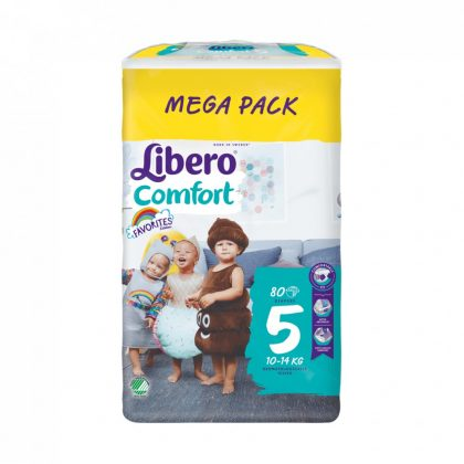 Libero Comfort pelenka megapack, Maxi+ 5, 10-14 kg, 80 db