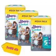 Libero Comfort pelenka, Maxi+ 5, 10-14 kg, MÁSFÉL HAVI PELENKACSOMAG 3x80 db
