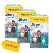 Libero Comfort nadrágpelenka Junior 6, 13-20 kg, HAVI PELENKACSOMAG 3x72 db