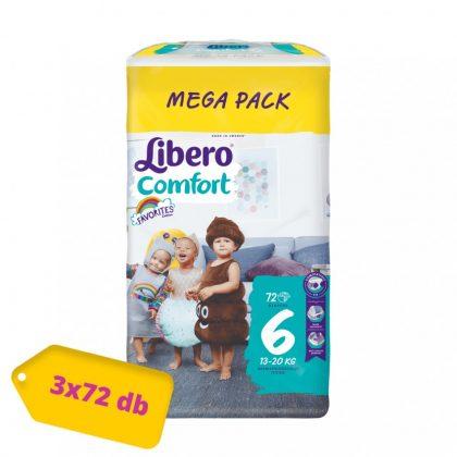 Libero Comfort pelenka Junior 6, 13-20 kg, HAVI PELENKACSOMAG 3x72 db