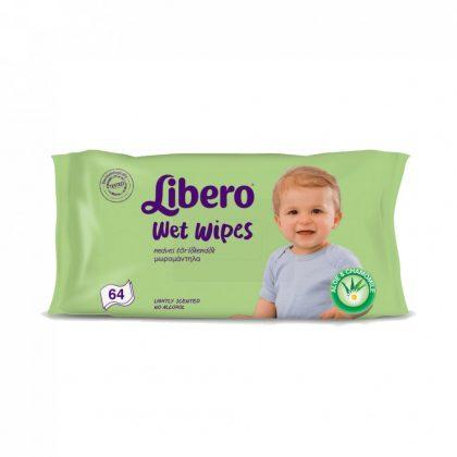 Libero Wet Wipes törlőkendő 64 lapos