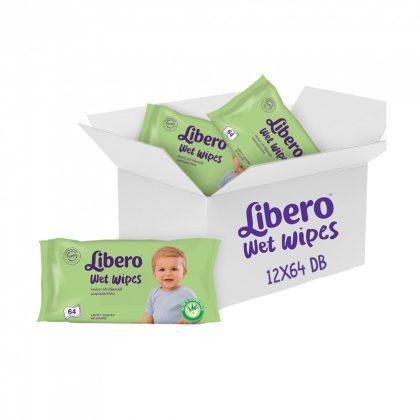 Libero Wet Wipes nedves törlőkendő 12x64 db