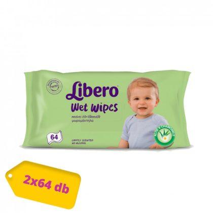 Libero Wet Wipes nedves törlőkendő 2x64 db