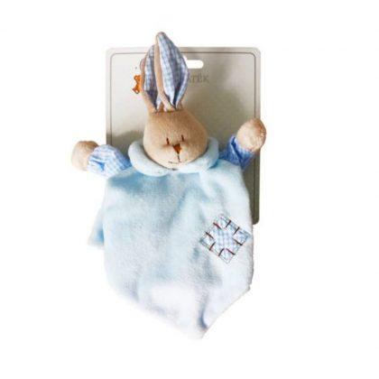 BabyBruin nyuszis szundikendő és bábjáték (pasztell kék)