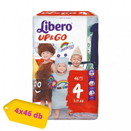 Libero UP&GO bugyipelenka Maxi 4, 7-11 kg, HAVI PELENKACSOMAG 4x46 db