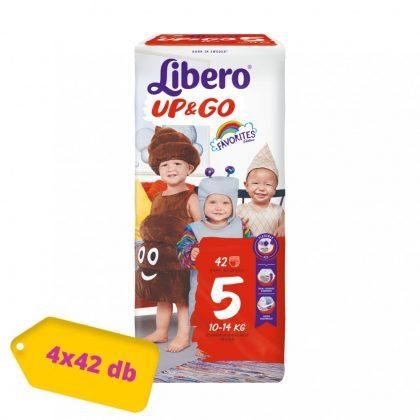 Libero UP&GO bugyipelenka Maxi+ 5, 10-14 kg, HAVI PELENKACSOMAG 4x42 db