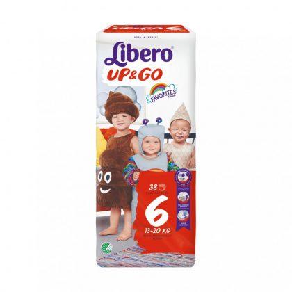 Libero UP&GO bugyipelenka, Junior 6, 13-20 kg, 38 db