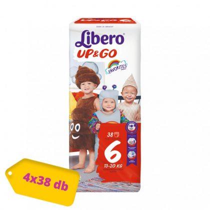 Libero UP&GO bugyipelenka Junior 6, 13-20 kg, HAVI PELENKACSOMAG 4x38 db
