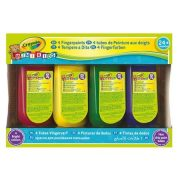 Crayola 4 tubus lemosható ujjfesték készlet