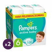 Pampers Active Baby pelenka, Junior 6, 13-18 kg, 1+1, 256 db
