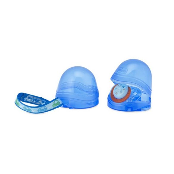 Chicco sterilizálható cumitartó doboz 2 db cumihoz (kék)