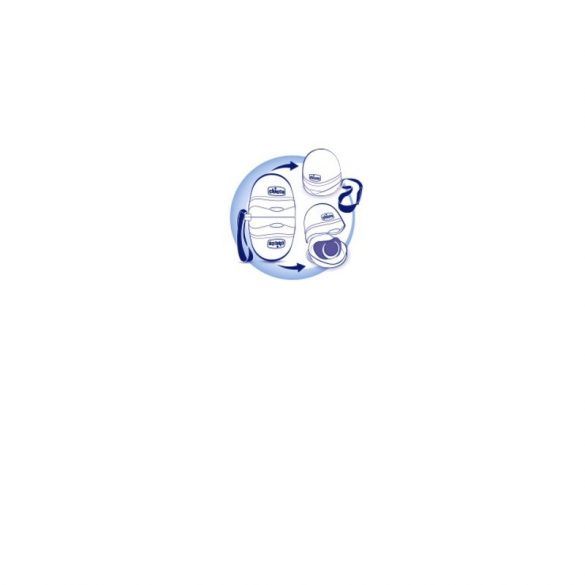 Chicco Cumitartó doboz 2 db cumi tárolására alkalmas, kék