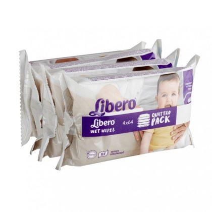 Libero sensitive nedves törlőkendő érzékeny bőrre 4x64 db