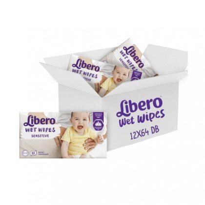 Libero sensitive nedves törlőkendő érzékeny bőrre 12x64 db