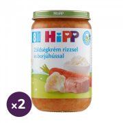 Hipp BIO zöldségkrém rizzsel és borjúhússal, 8 hó+ (2x220 g)