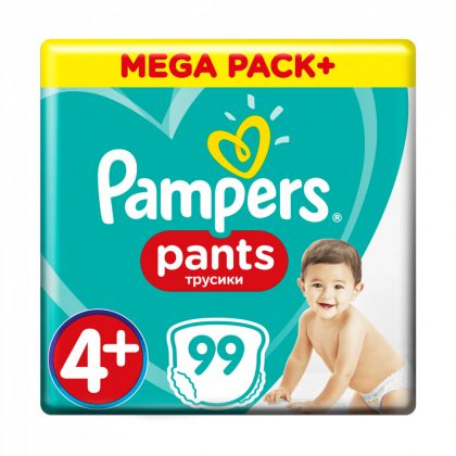 Pampers Pants bugyipelenka, Maxi+ 4+, 9-15 kg, HAVI PELENKACSOMAG 99 db