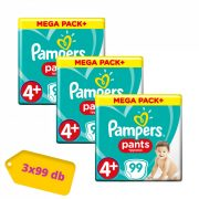 Pampers Pants bugyipelenka Maxi 4+, 9-15 kg 2+1 AKCIÓ 297 db